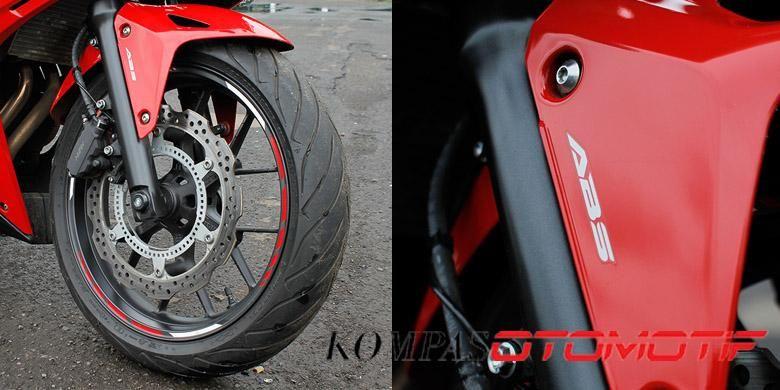 Sistem pengereman Honda CBR 500 R menggunakan fitur ABS
