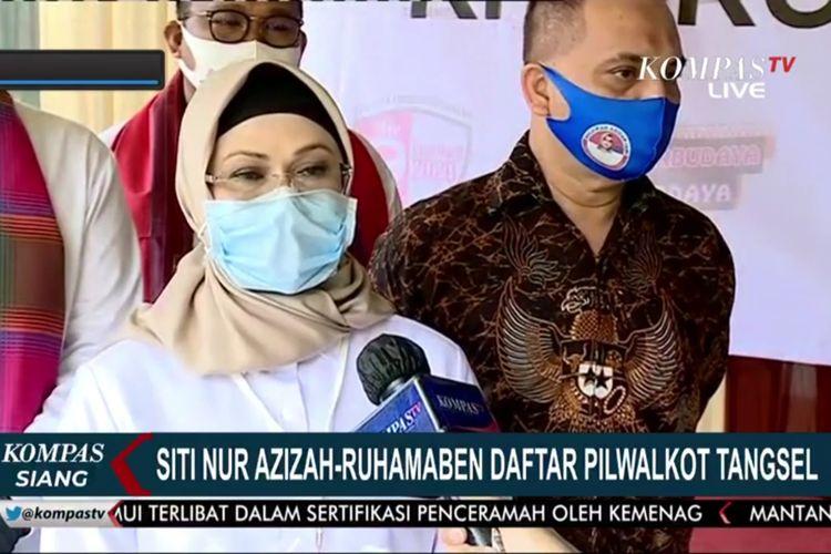 Bakal Calon Wali Kota Tangerang Selatan Siti Nur Azizah dalam wawancara dengan KompasTV