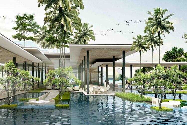 Restoran di The Apurva Kempinski Bali, hotel berbintang 5 di Sawangan, Nusa Dua, Bali yang akan hadir pada kuartal pertama tahun 2019.