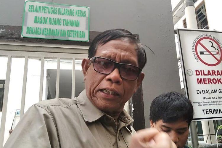 Komedian Tarzan saat ditemui di Pengadilan Negeri Jakarta Selatan, Rabu (23/10/2019).