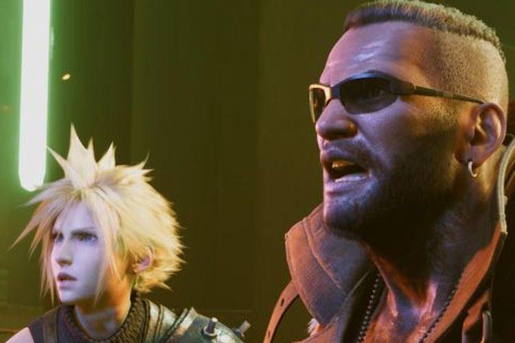 Ilustrasi karakter dalam Final Fantasy VII Remake
