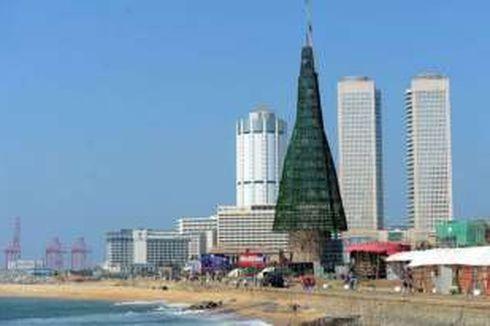 Sri Lanka Bikin Pohon Natal Tertinggi di Dunia