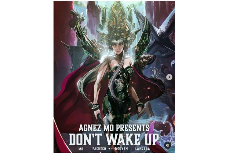 Novel grafis Don't Wake Up menampilkan sosok Agnez Mo dari lagi Long As I Got Paid.