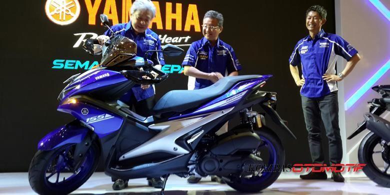 Yamaha Aerox 155 VVA mulai dipamerkan di ajang IMOS 2016.