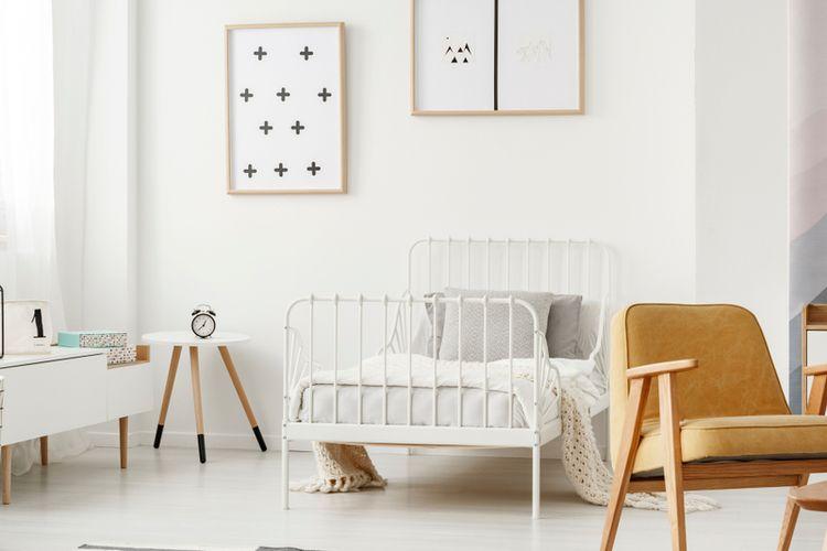 Ilustrasi kamar tidur minimalis.