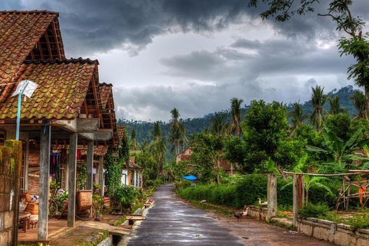 Pemandangan kawasan Desa Wisata Candirejo di Kabupaten Magelang