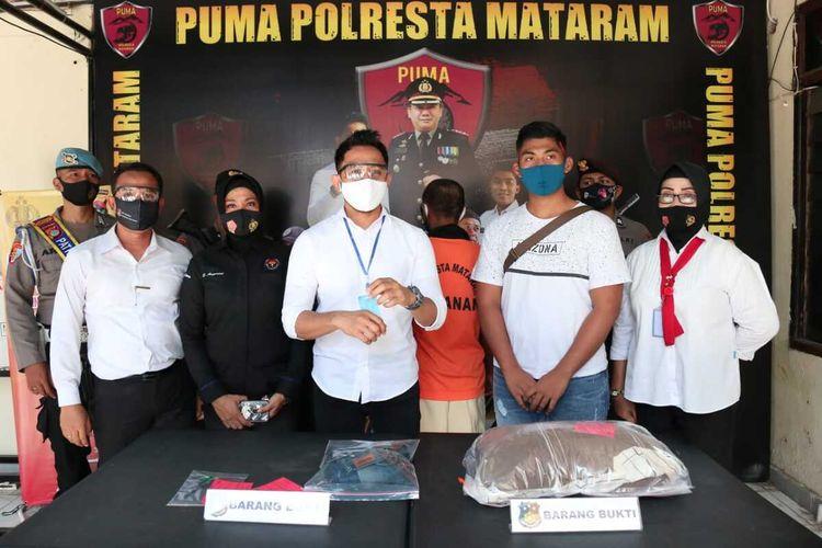 SPR (22) ditangkap Satreskrim Polresta Matarsm