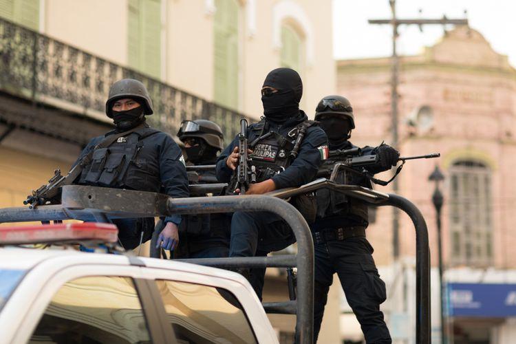 Ilustrasi polisi Meksiko.