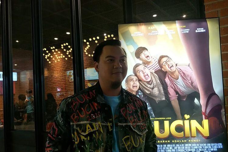 Chandra Liow dalam jumpa pers peluncuran poster dan trailer film Bucin di CGV FX Sudirman, Jakarta Pusat, Selasa (25/2/2020).