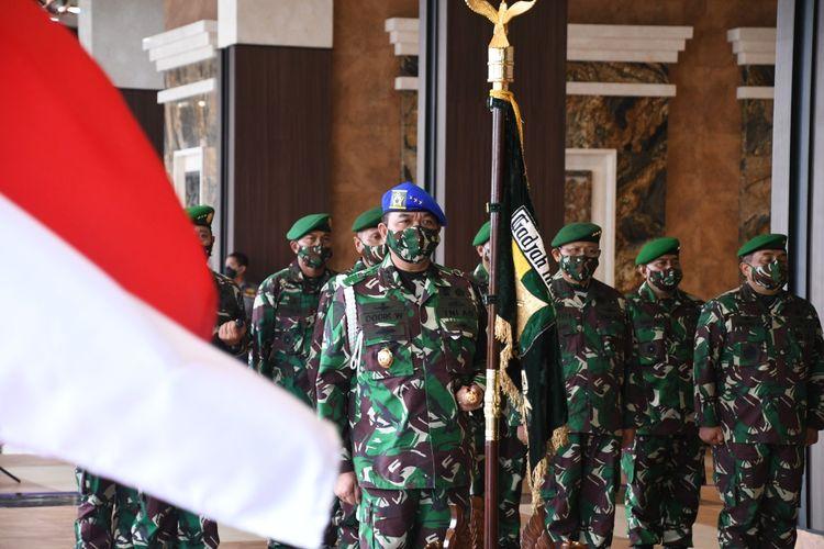 KSAD Pimpin Sertijab Koorsahli dan Komandan Puspomad, 8 Perwira Tinggi Naik Pangkat