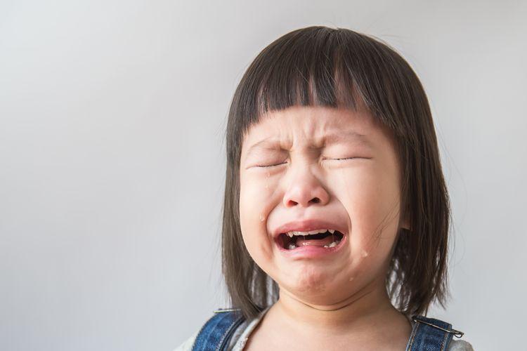 Ilustrasi anak menangis, emosi anak, perkembangan emosi anak.