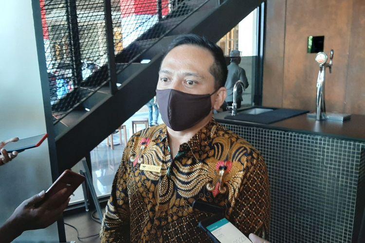 General Manager Tentrem Mall & Suites - Gustaf Riandory saat memberikan keterangan kepada awak media di Mal Tentrem Semarang, Senin (24/8/2020)