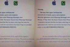 WhatsApp Error Hanya di iPhone Rekondisi?