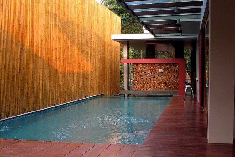 Desain kolam renang GV house di Tangerang karya HerryJ Architects