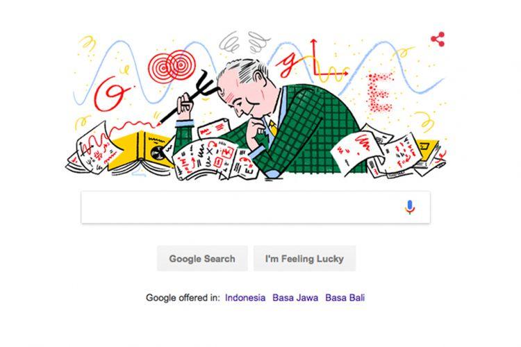 Google Doodle 11 Desember 2017 menampilkan sosok fisikawan Max Born.