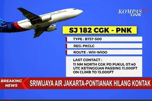 Dirut: Pesawat Sriwijaya Air SJ 182 Berangkat dalam Keadaan Sehat