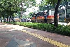 Naik 8 Bus, Rombongan Pedemo Mahasiswa UP dan Gunadarma Bergerak ke Monas