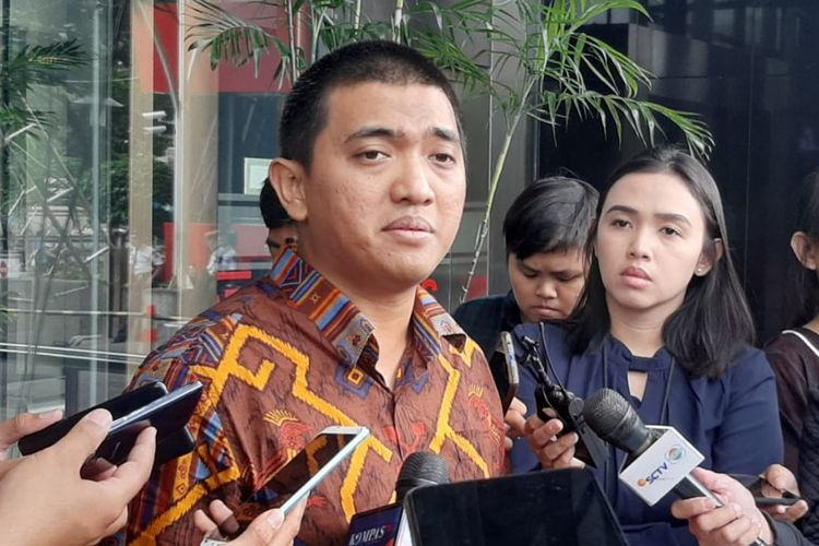 Ketua Wadah Pegawai KPK Yudi Purnomo di Gedung Merah Putih KPK, Jumat (7/2/2020).