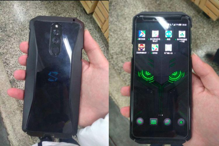 Bocoran foto yang disinyalir memperlihatkan tampang ponsel gaming Xiaomi Black Shark 2.
