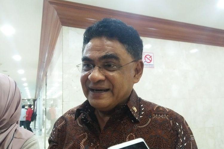 Andreas Hugo Pareira di Kompleks Parlemen, Senayan, Jakarta, Selasa (18/6/2019)