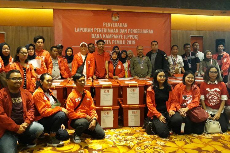 Partai Solidaritas Indonesia Serahkan Laporan Dana Kampanye di Hotel Borobudur, Jakarta Pusat, Rabu (1/5/2019).