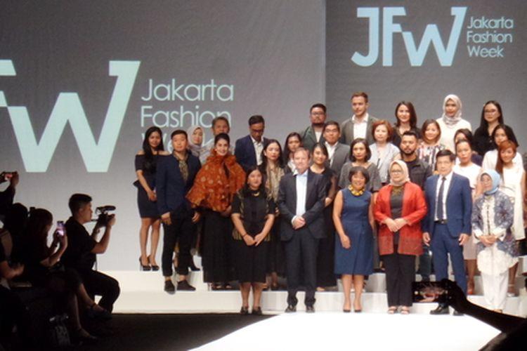 Pembukaan Jakarta Fashion Week 2020, Selasa (22/10/2019).