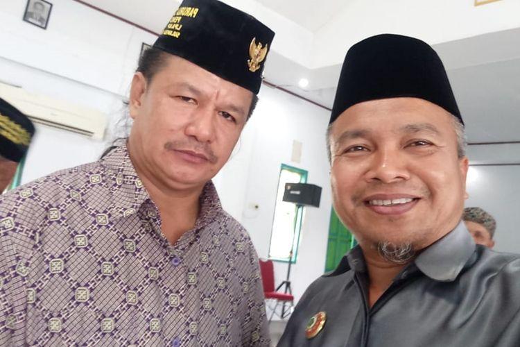 Pimpinan LPAAP Paruru Daeng Tau (Kiri) saat bersama MUI, kini dilaporkan di Polres Tana Toraja atas dugaan penista agama, Selasa (03/12/2019)