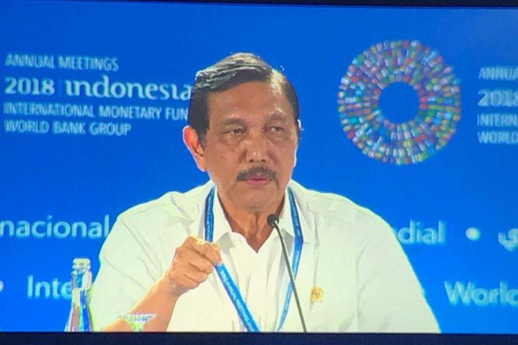 Menteri Koordinator Bidang Kemaritiman Luhut Binsar Panjaitan .