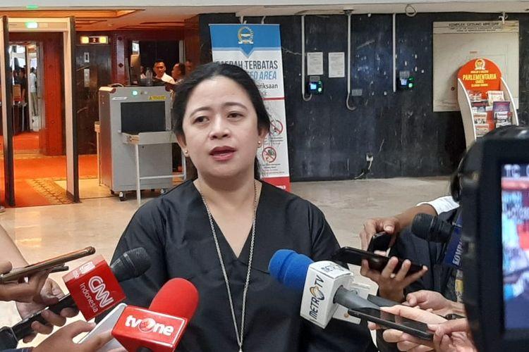 Ketua DPR Puan Maharani di Kompleks Parlemen, Senayan, Jakarta, Rabu (22/1/2020).