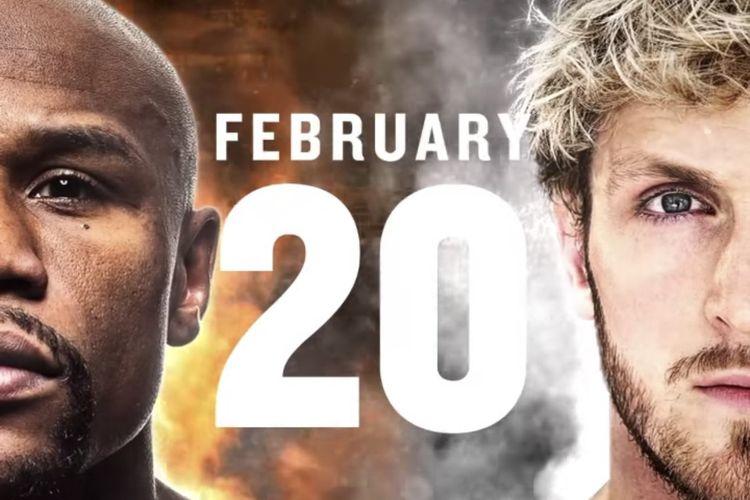 Duel Floyd Mayweather Jr kontra YouTuber Logan Paul yang direncanakan pada 20 Februari 2021.