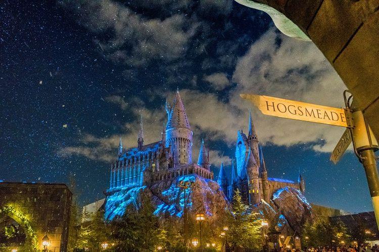 Ilustrasi Hogwarts, Universal Studios Hollywood.