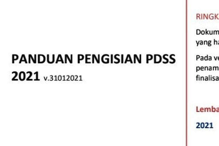 Panduan pengisian PDSS 2021 dari LTMPT.