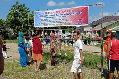 Sembako Gantung, Cara Warga Samarinda Saling Bantu Selama Wabah Covid-19