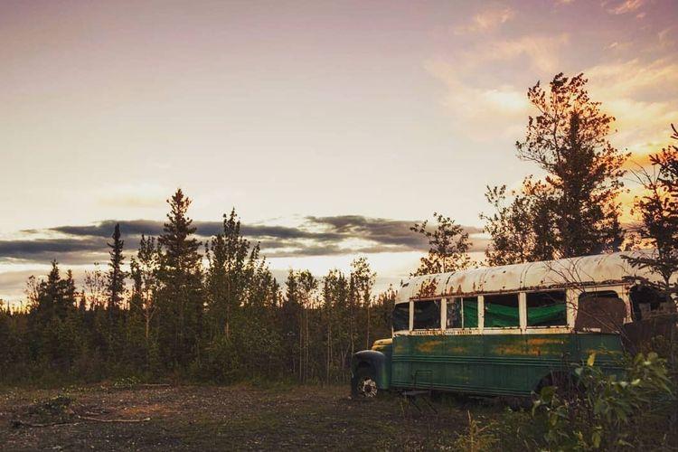 Bus Into the Wild yang dikendarai Christopher McCandless saat mati kelaparan di Alaska pada 1992.