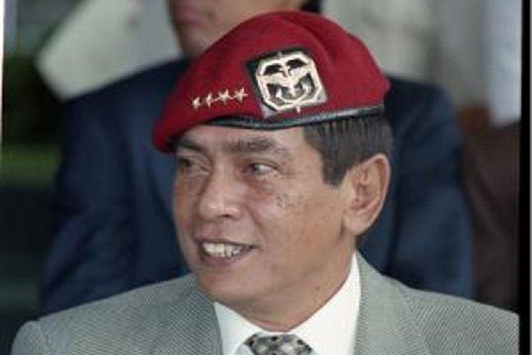 Jenderal TNI (Purn) Wismoyo Arismunandar pada acara HUT Kopassus ke 47 di Jakarta