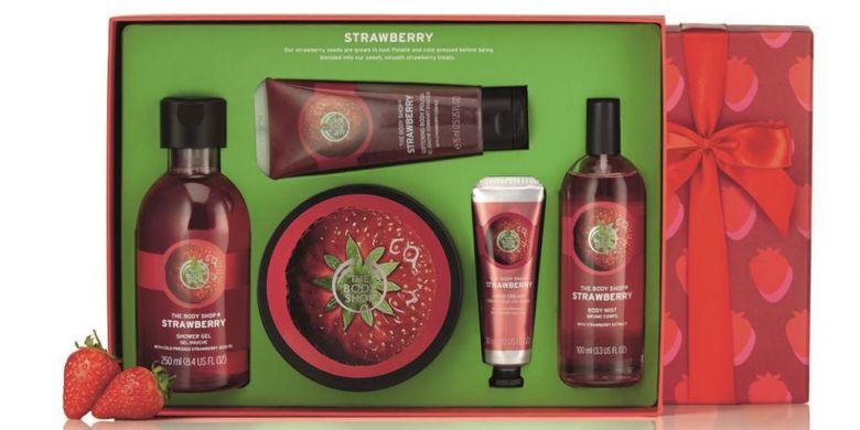 Paket produk dari Body Shop untuk menyambut Valentine.