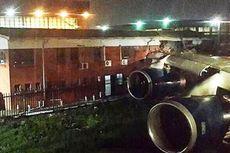 Sayap Pesawat British Airways Tabrak Gedung Bandara
