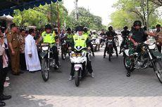Patroli Pengamanan Natal, Khofifah Naik Matik, Kapolda dan Pangdam Naik Motor