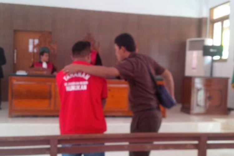 RP divonis 2 tahun 6 bulan karena menganiaya istrinya dalam sidang di Pengadilan Negeri Nunukan, Kalimantan Utara, Selasa (22/2/2017).