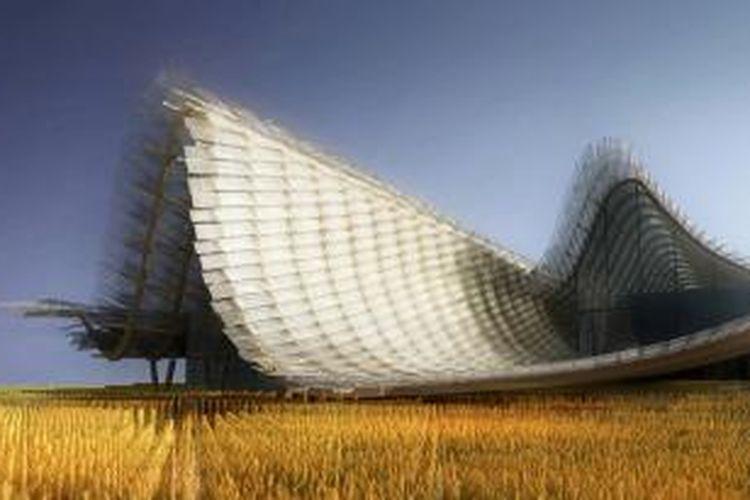 China akan bersinar dalam perhelatan internasional di Milan tahun depan, World Expo 2015. Link-Arc asal New York, Amerika Serikat, berkolaborasi dengan tim dari Tsinghua University membuat desain paviliun unik ini.