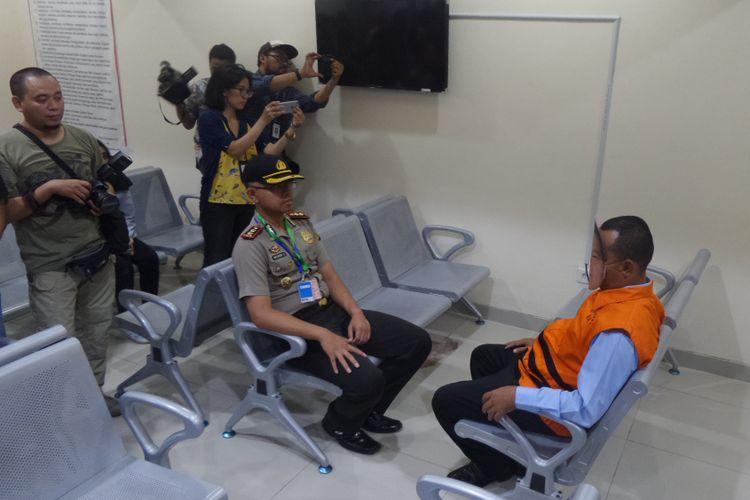 Ruang kunjungan di Rumah Tahanan Gedung KPK Jakarta, Jumat (6/10/2017).