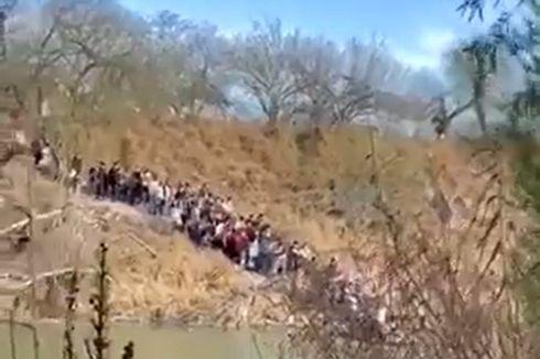 Video di Perbatasan Meksiko Ungkap Cara Pencari Suaka Masuk ke AS