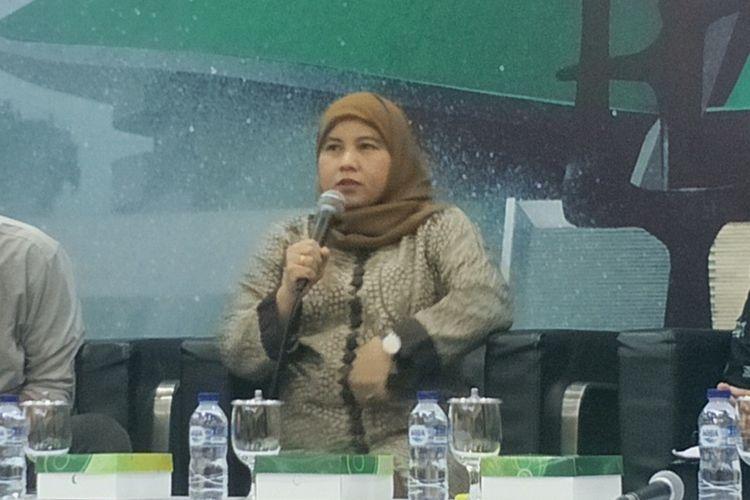 Anggota Komisi VIII Diah Pitaloka dalam sebuah diskusi di Kompleks Parlemen, Senayan, Jakarta, Selasa (30/7/2019).