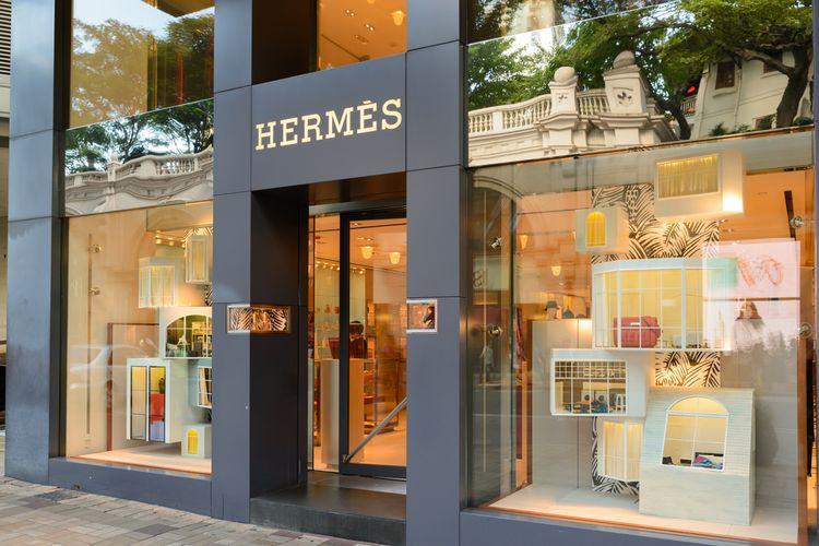 Salah satu butik Hermes.