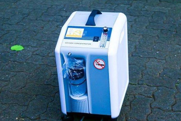 Ilustrasi alat oksigen konsentrator untuk kebutuhan pasien Covid-19