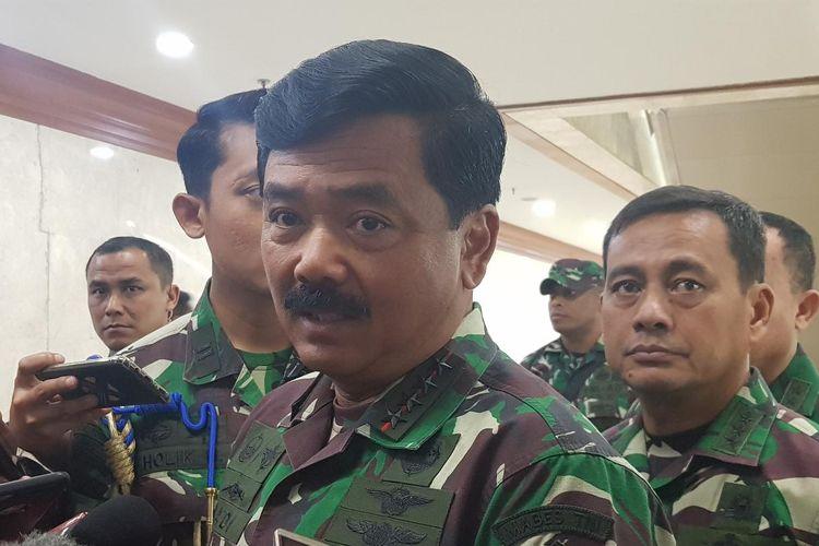 Panglima TNI Hadi Tjahjanto saat ditemui di Komplek Parlemen, Senayan, Jakarta Pusat, Kamis (30/1/2020).