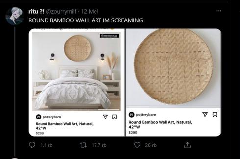 Twit Viral Tampah Bambu Dijual hingga Rp 4 Jutaan untuk Hiasan Dinding