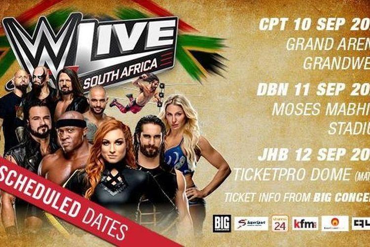 Jadwal baru WWE Live Event di Afrika Selatan.