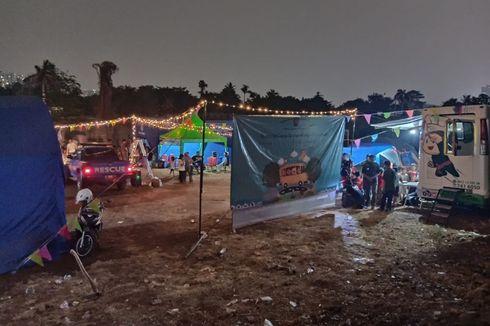 Posko Pengungsian Korban Kebakaran di Cawang Disulap Layaknya Pasar Malam