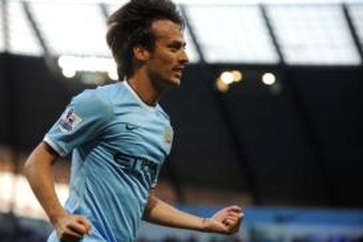 Gelandang Manchester City, David Silva.